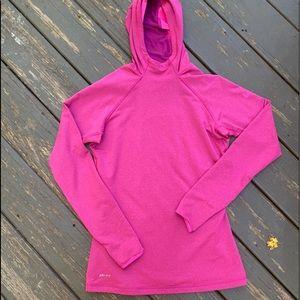 Nike hooded shirt fuchsia med